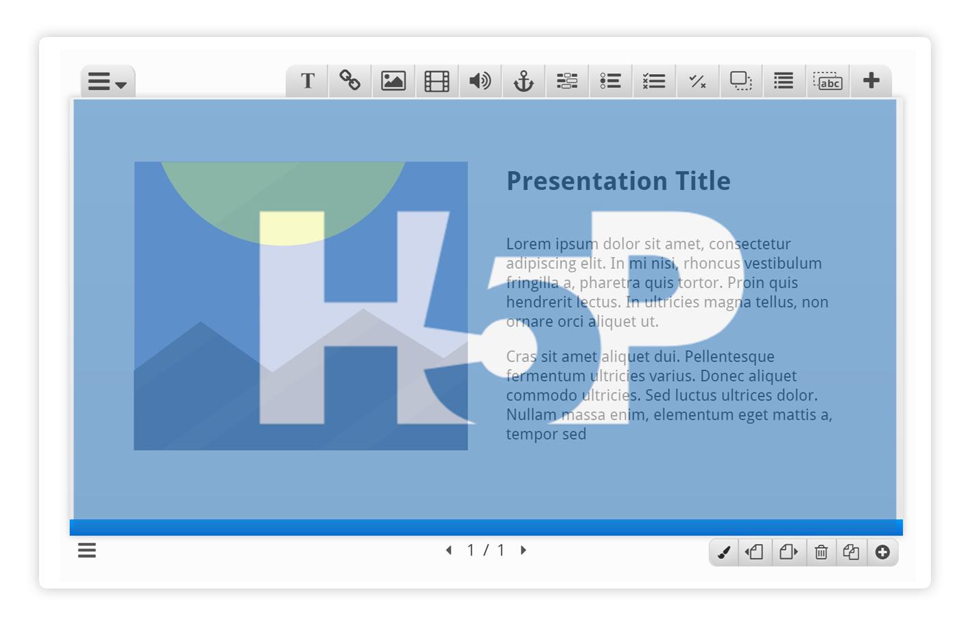 """H5P – Tutoriel de l'activité """"présentation de cours"""""""