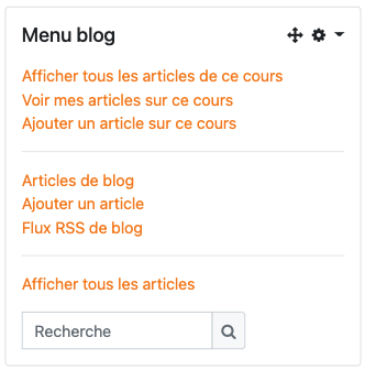 bloc menu blog